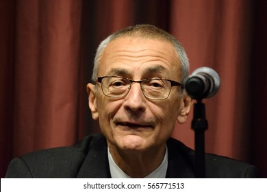 NEW YORK, USA - APRIL 13, 2016: John Podesta speaks at NAN 25th Annual Convention. Mr. Podesta chaired the 2016 Hillary Clinton Presidential campaign and is a former Clinton Administration official.