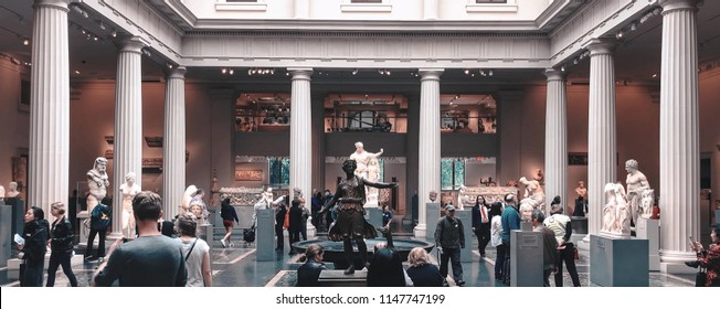 New York, USA - April 21, 2017: Metropolitan museum of art which showing so many style image and make people see about it in New York City