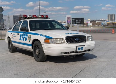 New York, U.S.A. April 26th, 2020. The New York police car of 90's.