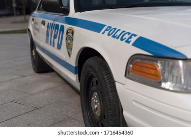 New York, U.S.A. April 26th, 2020. The New York police car of 90's - Ford Crown Victoria Police Interceptor.
