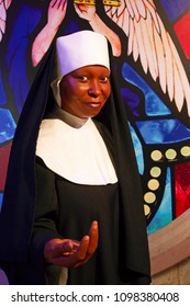 New York, USA - April 30, 2018: Whoopi Goldberg in Madame Tussauds of New York