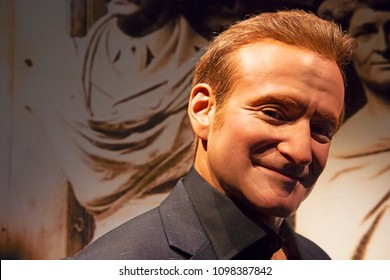 New York, USA - April 30, 2018: Robin Williams in Madame Tussauds of New York