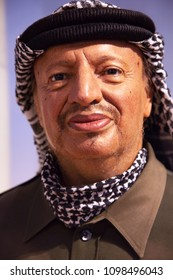New York, USA - April 30, 2018: Yasser Arafat in Madame Tussauds of New York