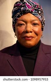 New York, USA - April 30, 2018: Maya Angelou in Madame Tussauds of New York
