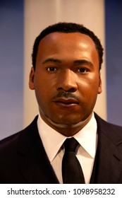 New York, USA - April 30, 2018: Martin Luther King Jr. in Madame Tussauds of New York