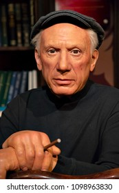 New York, USA - April 30, 2018: Pablo Picasso in Madame Tussauds of New York