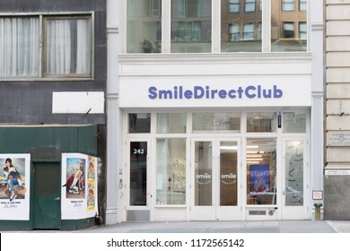 New York, USA, August 18, 2018:Smile direct club in  New York city.