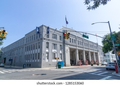 New York, USA - August 20, 2018: the Kaufman Astoria Studios, a historic movie studio located in the Astoria section of the New York City borough of Queens.