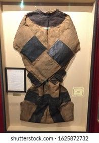New York, USA - August 20, 2018:  Harry Houdini Original Punishment Suit (straitjacket) used by the famous illusionist