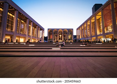 NEW YORK, USA - AUGUST 2011:  The Lincoln Center on August 10, 2011.  The Lincon Center is also home to the Metropolitan Opera House.