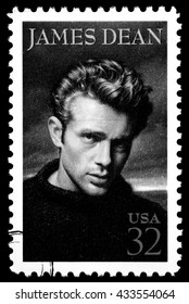 NEW YORK, USA - CIRCA 2010: A postage stamp printed in the USA showing James Dean, circa 2000