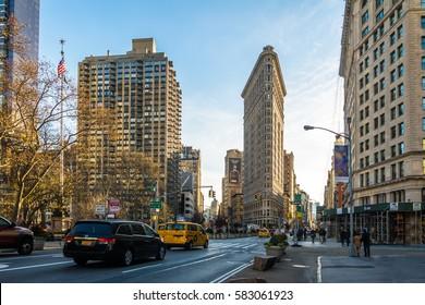 NEW YORK, USA - December 03, 2016:  Flatiron Building