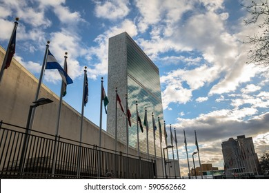 NEW YORK, USA - December 08, 2016: United Nations Headquarters