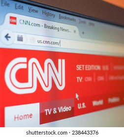 NEW YORK, USA - DECEMBER 15, 2014: home Page of the CNN Cable News Network