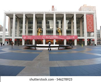 New York, USA - February 1, 2014: The Lincoln Centre is New York's main arts complex, featuring plays, opera and a cinema.