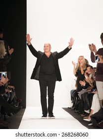 New York, USA - February 15, 2015: Marc Carmen Valvo Runway at Lincoln Center for Mercedes Benz Fashion week Showing his Fall / Winter Collection for 2015