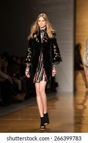 New York, USA - February 16, 2015: Reem Acra Runway Show at Lincoln Center for Mercedes Benz Fashion week Showing their Fall / Winter Collection for 2015