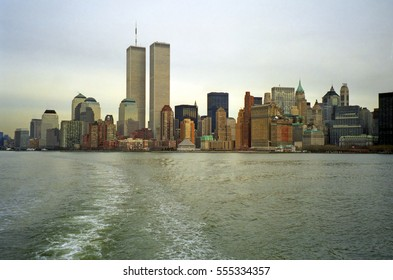 NEW YORK, USA - FEBRUARY 16: World Trade Center on 16 February 1998 at New York, USA. The WTC twin towers were blasted by terrorsits at 11 September, 2001.