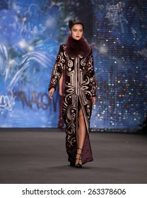 New York, USA - February 17, 2015: Naeem Khan Runway Show at Lincoln Center for Mercedes Benz Fashion week Showing his Fall / Winter Collection for 2015