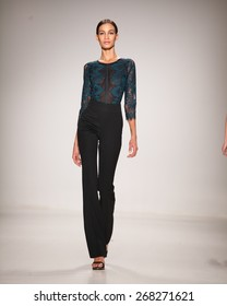 New York, USA - February 18, 2015: Erin Fetherston Runway at Lincoln Center for Mercedes Benz Fashion week Showing her Fall / Winter Collection for 2015