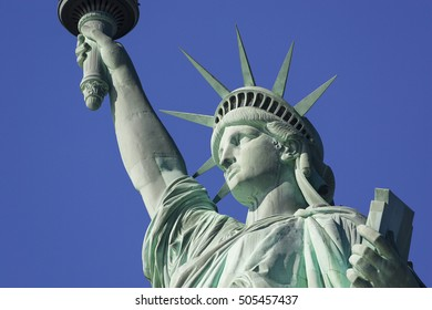 NEW YORK, NEW YORK, USA - FEBRUARY 19, 2005: Statue of Liberty National Monument.