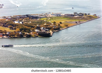 New York, USA, Governors Island National Monument in Upper New York Bay