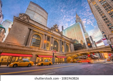 New York, New York, USA at Grand Central Terminal in Midtown Manhattan in the morning.