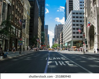 NEW YORK, USA - JULY 1, 2007: Unidentified people on the street of New York. At 2010 population of New York City was more than 19 million.