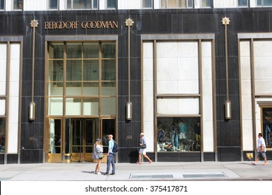 NEW YORK, USA - JULY 2, 2013: Bergdorf Goodman department store in 5th Avenue, New York. Bergdorf Goodman is a luxury department store founded in 1899.