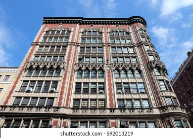 NEW YORK, USA - JULY 2, 2013: Architecture of Madison Avenue in New York. Madison Avenue was not a part of original NY street grid plan, but was created in 1836.