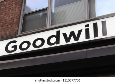New York, New York / USA; June 10, 2018; Goodwill Store photographed in New York City.