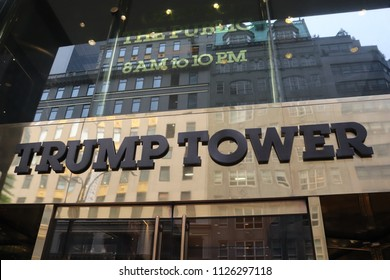 New York, New York / USA; June 11, 2018; Trump Tower photographed in New York City on June 11, 2018.
