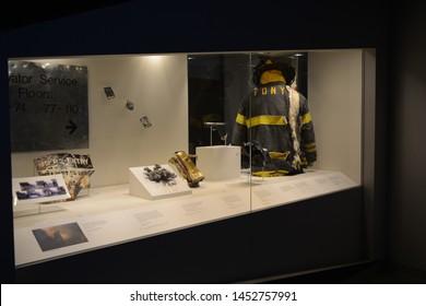 NEW YORK, USA - JUNE 24, 2019: September 9 Tribute Museum located in Lower Manhattan