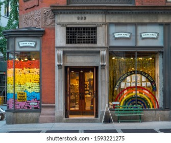 New York, USA - June 28, 2019:  A store front photo of Fishs Eddy,a flatware, dishes store, on Broadway and East 19 Street in Manhattan, New York, USA