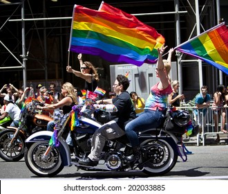 New York Usa June 29th 2014 The New York City Pride March Commemorating