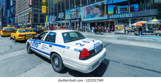 NEW YORK, USA - JUNE 9, 2013: NYPD highway patrol car.