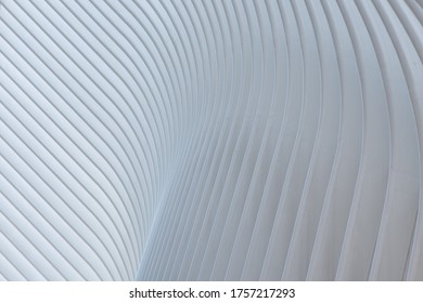 New York, Usa; March 12 2019. The Oculus. Train station in the word trade center designed by Santiago Calatrava