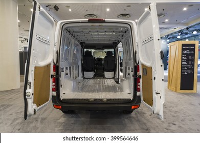 NEW YORK, USA - MARCH 24, 2016: Mercedes Sprinter on display during the New York International Auto Show at the Jacob Javits Center.