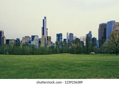 NEW YORK, USA - MARCH 26: Skyscrapers of Manhattan. Manhattan is often described as the cultural, financial, media, and entertainment capital of the world on March 26, 2014 in New York, USA