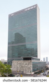 NEW YORK, USA - May 03, 2016: United Nations Building in New York City is the headquarters of the United Nations organization