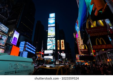 New York, USA - May 07, 2016: Time Square New York by night