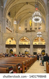 NEW YORK, USA - MAY 10, 2019: MSM Commencement ceremony each May at Riverside Church is important celebration of enormous achievements of graduates. Ceremony guests
