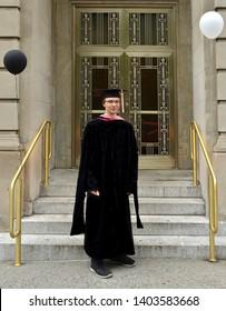 NEW YORK, USA - MAY 10, 2019: Master of Music (MM). Manhattan School of Music, New York City (NYC), United States