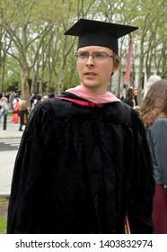 NEW YORK, USA - MAY 10, 2019: Graduate of the Manhattan School of Music. Master of Music (MM)