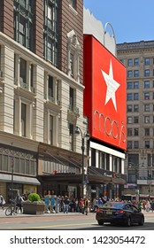 NEW YORK, USA - MAY 11, 2019: Macy's Herald Square (originally named R. H. Macy and Company Store), flagship of Macy's department store chain