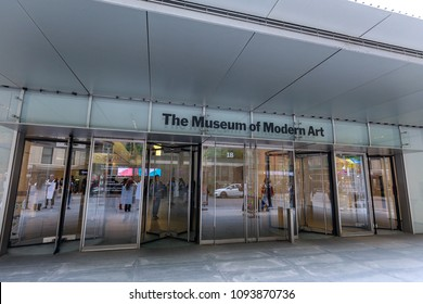 New York, USA - May 12, 2018 : The Museum of Modern Art, MoMA in Manhattan, NYC