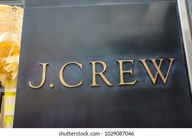 NEW YORK, USA - MAY 2, 2013: J.Crew store in New York. It is an American fashion company founded at 1983.