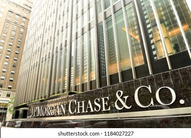 New York, USA - May 26, 2018: JPMorgan Chase & Co office at the Park Ave in New York, NY.