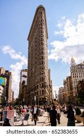 NEW YORK, USA - MAY 26, 2014: Flatiron Building