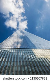 New York, USA - May 31, 2015: One World Trade Center or Freedom Tower, the Sixth-tallest in the World, Was Established Instead of World Trade Center Complex